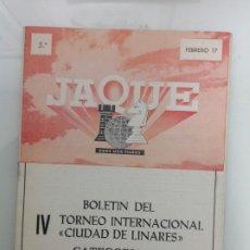 Coleccionismo deportivo: TORNEO INTERNACIONAL DE AJEDREZ. LINARES. JAEN. Lote 189425657