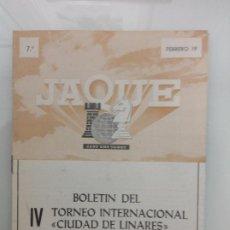 Coleccionismo deportivo: TORNEO INTERNACIONAL DE AJEDREZ. LINARES. JAEN. Lote 189425720