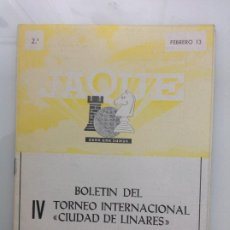 Coleccionismo deportivo: TORNEO INTERNACIONAL DE AJEDREZ. LINARES. JAEN. Lote 189425743