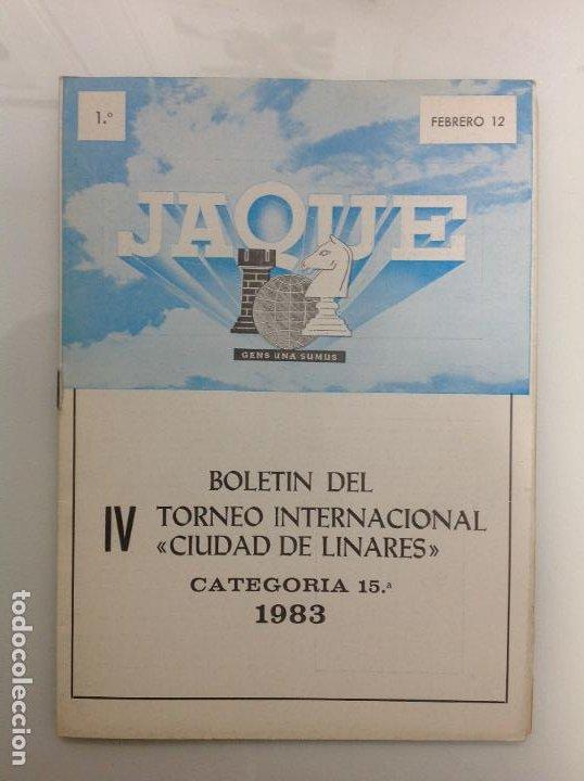 TORNEO INTERNACIONAL DE AJEDREZ. LINARES. JAEN (Coleccionismo Deportivo - Libros de Ajedrez)