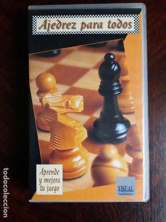 VHS AJEDREZ PARA TODOS. VISUAL EDICIONES. 1995. (Coleccionismo Deportivo - Libros de Ajedrez)