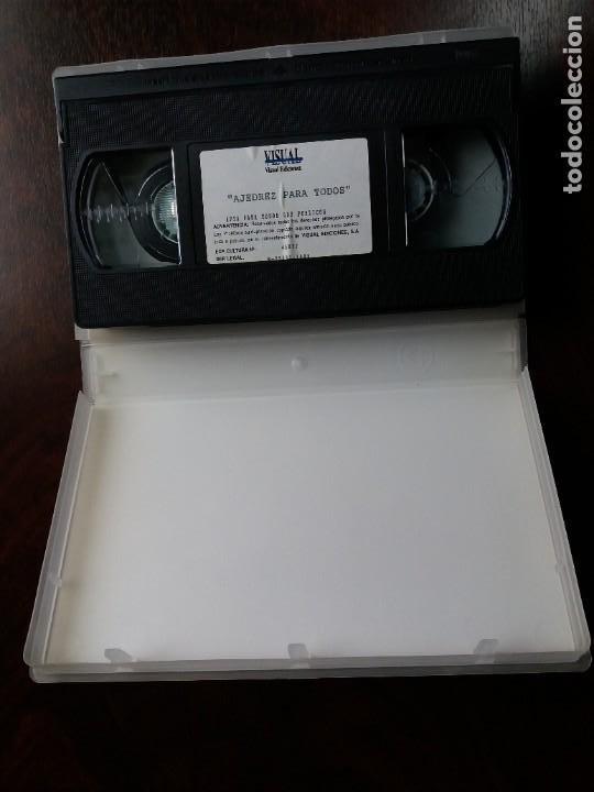 Coleccionismo deportivo: VHS AJEDREZ PARA TODOS. VISUAL EDICIONES. 1995. - Foto 3 - 191249885