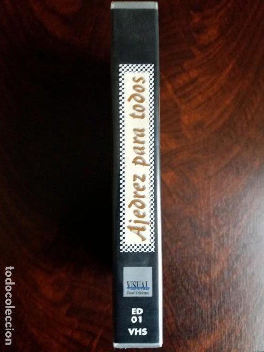 Coleccionismo deportivo: VHS AJEDREZ PARA TODOS. VISUAL EDICIONES. 1995. - Foto 4 - 191249885