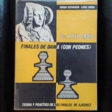 Coleccionismo deportivo: AJEDREZ FINALES DE DAMA CON PEONES REY ARDID . Lote 194716615
