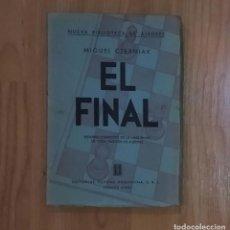 Coleccionismo deportivo: AJEDREZ CZERNIAK EL FINAL SOPENA 1 ED. 1941. Lote 195145288