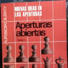 Coleccionismo deportivo: AJEDREZ NUEVAS IDEAS EN LAS APERTURAS ABIERTAS T1. ENVIO GRATIS !. Lote 195533730