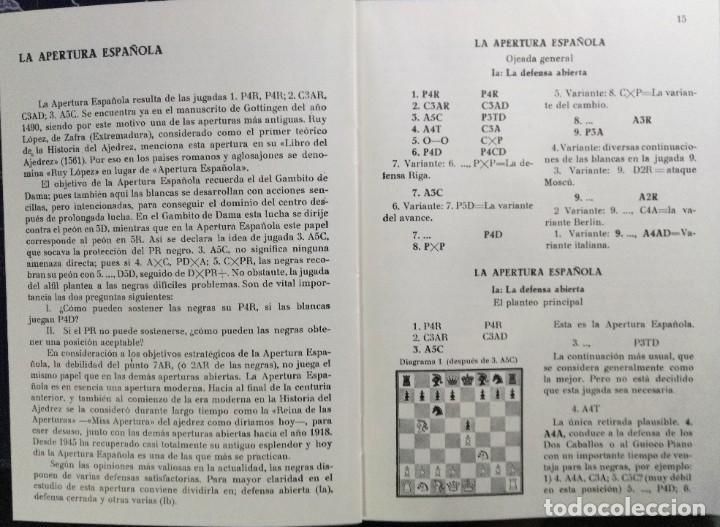 Coleccionismo deportivo: Libro ajedrez La Apertura Española tomo I. Envio gratis! - Foto 2 - 195534005
