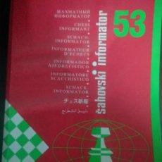 Coleccionismo deportivo: SAHOVSKY INFORMATOR 53 1992. Lote 198027220