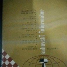 Coleccionismo deportivo: SAHOVSKY INFORMATOR 18 1975. Lote 198027505