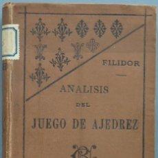 Coleccionismo deportivo: 1891.- ANALISIS DEL JUEGO DE AJEDREZ. FILIDOR. Lote 198418492