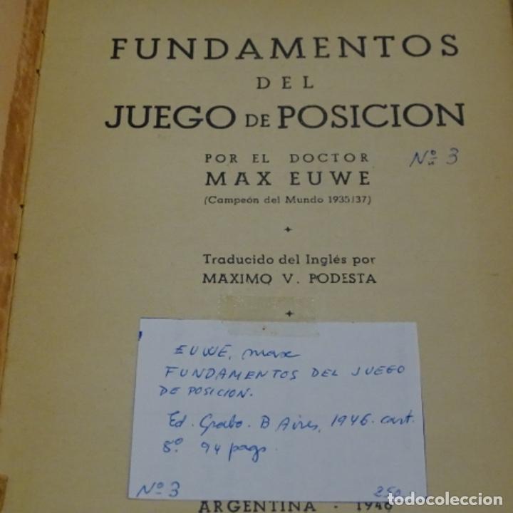 Coleccionismo deportivo: fundamentos del juego de posición por Max euwe.campeonato del mundo 1935-37. - Foto 3 - 199202242