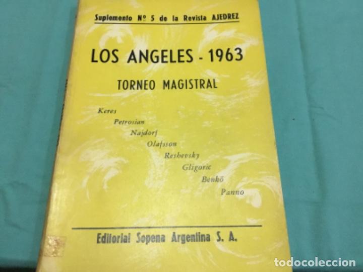 Coleccionismo deportivo: Los Angeles 1963.suplemento 5 revista ajedrez.torneo magistral.keres,petrosian,najdorf... - Foto 2 - 199249732