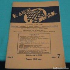 Colecionismo desportivo: REVISTA EL AJEDREZ ESPAÑOL.MADRID MARZO 1935.AÑO II NÚMERO 7.. Lote 199253165
