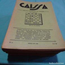 Coleccionismo deportivo: 33 NÚMEROS.REVISTA ARGENTINA DE AJEDREZ.DE LOS AÑOS 1940-46.EXCEPCIONAL LOTE.. Lote 199254952