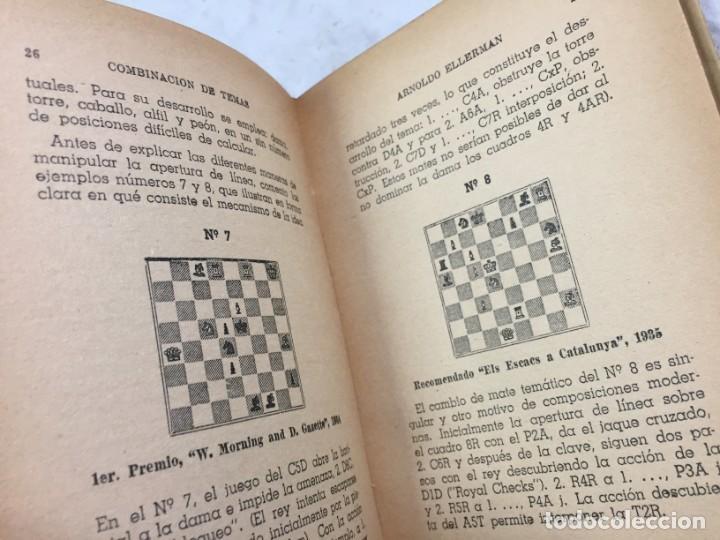 Coleccionismo deportivo: Combinación de temas en los problemas de ajedrez. Arnoldo ELLERMAN, Grabo, 1944. - Foto 5 - 199577241