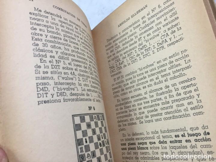Coleccionismo deportivo: Combinación de temas en los problemas de ajedrez. Arnoldo ELLERMAN, Grabo, 1944. - Foto 6 - 199577241