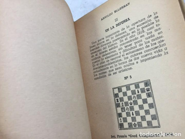Coleccionismo deportivo: Combinación de temas en los problemas de ajedrez. Arnoldo ELLERMAN, Grabo, 1944. - Foto 7 - 199577241