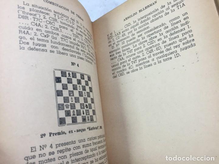 Coleccionismo deportivo: Combinación de temas en los problemas de ajedrez. Arnoldo ELLERMAN, Grabo, 1944. - Foto 8 - 199577241