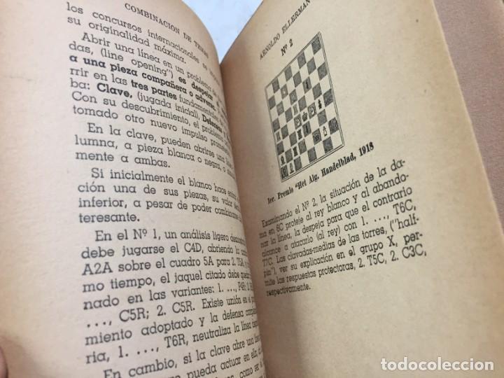 Coleccionismo deportivo: Combinación de temas en los problemas de ajedrez. Arnoldo ELLERMAN, Grabo, 1944. - Foto 9 - 199577241