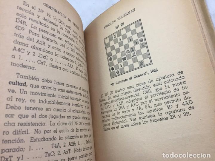 Coleccionismo deportivo: Combinación de temas en los problemas de ajedrez. Arnoldo ELLERMAN, Grabo, 1944. - Foto 11 - 199577241