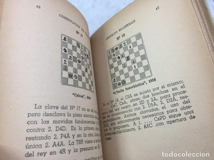 Coleccionismo deportivo: Combinación de temas en los problemas de ajedrez. Arnoldo ELLERMAN, Grabo, 1944. - Foto 12 - 199577241