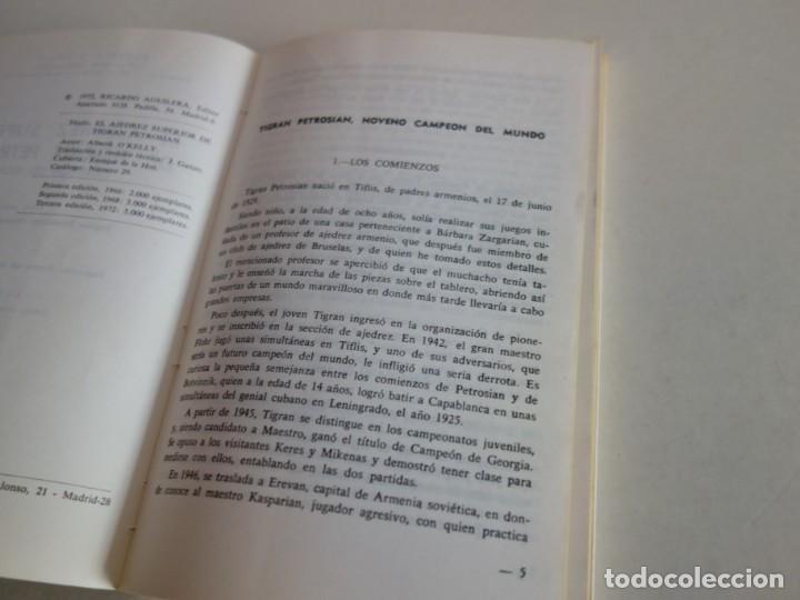 Coleccionismo deportivo: AJEDREZ.CHESS. AJEDREZ. EL AJEDREZ SUPERIOR. DE TIGRAN PETROSIAN. - Foto 2 - 199752342