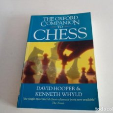 Coleccionismo deportivo: AJEDREZ.CHESS. THE OXFORD COMPANION TO CHESS. DAVID HOOPER. KENNETH WHYLD. Lote 199762828