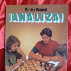 Colecionismo desportivo: ¡ANALIZA! - PATRICK GONNEAU - LIBRO DE AJEDREZ. CHESS.. Lote 201861965