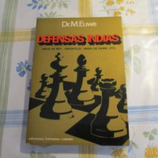 Coleccionismo deportivo: AJEDREZ.CHESS. DR. EUWE. DEFENSAS INDIAS.. Lote 202328887