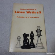 Coleccionismo deportivo: AJEDREZ.CHESS. SICILIAN DEFENCE LINES WITH C3. FULLER. PICKETT. Lote 202649732