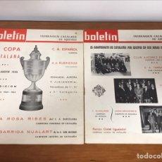 Coleccionismo deportivo: LOTE DE 5 BOLETINES DE LA FEDERACIÓN CATALANA DE AJEDREZ AÑOS 60. Lote 203726405