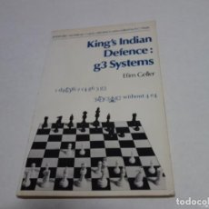 Coleccionismo deportivo: AJEDREZ.CHESS. BATSFORD. KING'S INDIAN DEFENCE G3 SYSTEMS. EFIM GELLER.. Lote 204487166