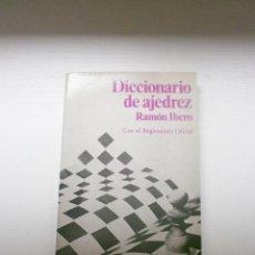 Coleccionismo deportivo: DICCIONARIO DE AJEDREZ POR RAMÓN IBERO DE ED. MARTÍNEZ ROCA EN VALENCIA 1977. Lote 204704801
