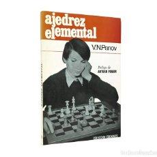 Coleccionismo deportivo: AJEDREZ ELEMENTAL // V. N. PANOV // COLECCIÓN ESCAQUES // ((1987)). Lote 51110218