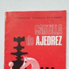 Collectionnisme sportif: CARTILLA DE AJEDREZ. ROMAN TORAN. FEDERACION ESPAÑOLA DE AJEDREZ. TDK100. Lote 205766317