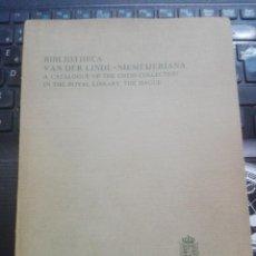 Coleccionismo deportivo: RARO-BIBLIOTHECA VAN DER LINDE-NIEMEIJERIANA: UN CATÁLOGO DE LA COLECCIÓN DE AJEDREZ EN LA BIBLIOTEC. Lote 206258505