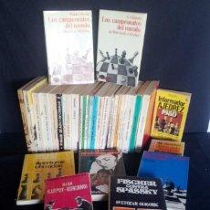 Coleccionismo deportivo: LOTE DE 34 LIBROS DE AJEDREZ - VARIOS AUTORES - NO SE VENDEN POR SEPARADO. Lote 206265743