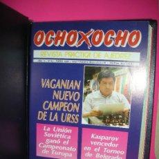Coleccionismo deportivo: LOTE 12 REVISTAS DE AJEDREZ OCHO X OCHO ( INCLUYE ARCHIVADOR ) - VER LISTADO DE NUMEROS -. Lote 206768145