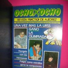 Coleccionismo deportivo: LOTE 13 REVISTAS DE AJEDREZ OCHO X OCHO ( INCLUYE ARCHIVADOR ) - VER LISTADO DE NUMEROS -. Lote 206770188