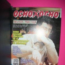 Coleccionismo deportivo: LOTE 10 REVISTAS DE AJEDREZ OCHO X OCHO ( INCLUYE ARCHIVADOR ) - VER LISTADO DE NUMEROS -. Lote 206771367