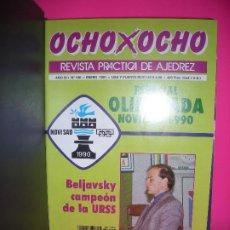 Coleccionismo deportivo: LOTE 13 REVISTAS DE AJEDREZ OCHO X OCHO ( INCLUYE ARCHIVADOR ) - VER LISTADO DE NUMEROS -. Lote 206772320