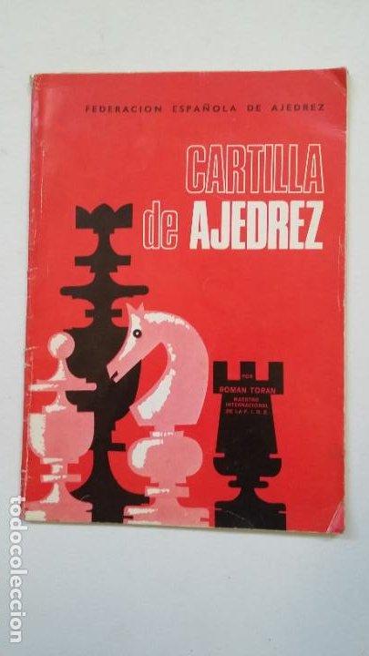 CARTILLA DE AJEDREZ. ROMAN TORAN. FEDERACION ESPAÑOLA DE AJEDREZ. TDK185 (Coleccionismo Deportivo - Libros de Ajedrez)