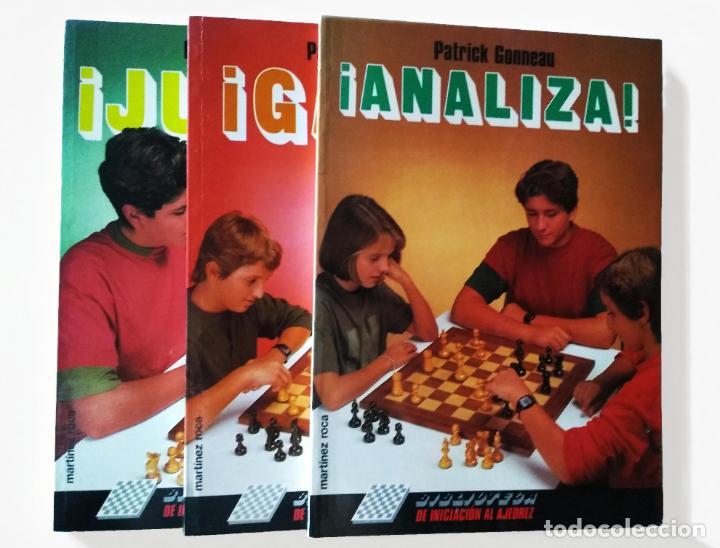 Coleccionismo deportivo: Biblioteca de iniciación al ajedrez. Juega, analiza, gana | Gonneau, Patrick | Martínez Roca 1990 - Foto 2 - 206834995