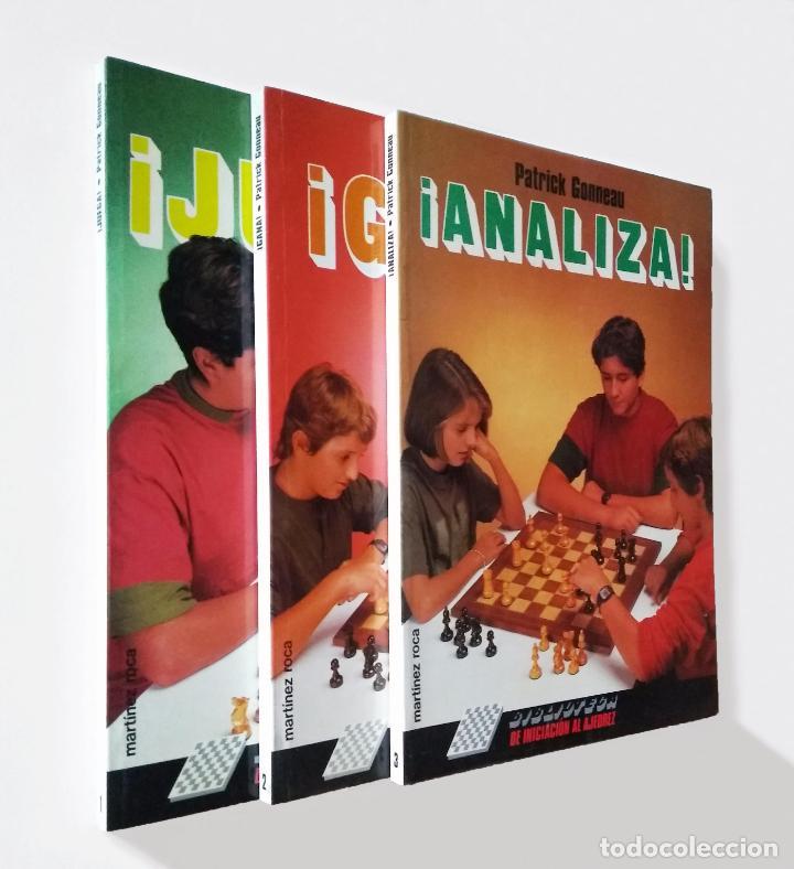 BIBLIOTECA DE INICIACIÓN AL AJEDREZ. JUEGA, ANALIZA, GANA | GONNEAU, PATRICK | MARTÍNEZ ROCA 1990 (Coleccionismo Deportivo - Libros de Ajedrez)