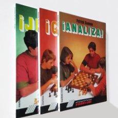 Coleccionismo deportivo: BIBLIOTECA DE INICIACIÓN AL AJEDREZ. JUEGA, ANALIZA, GANA | GONNEAU, PATRICK | MARTÍNEZ ROCA 1990. Lote 206834995