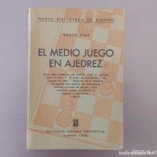 Coleccionismo deportivo: FINE : EL MEDIO JUEGO EN AJEDREZ SOPENA 1ED. 1957. Lote 206983095