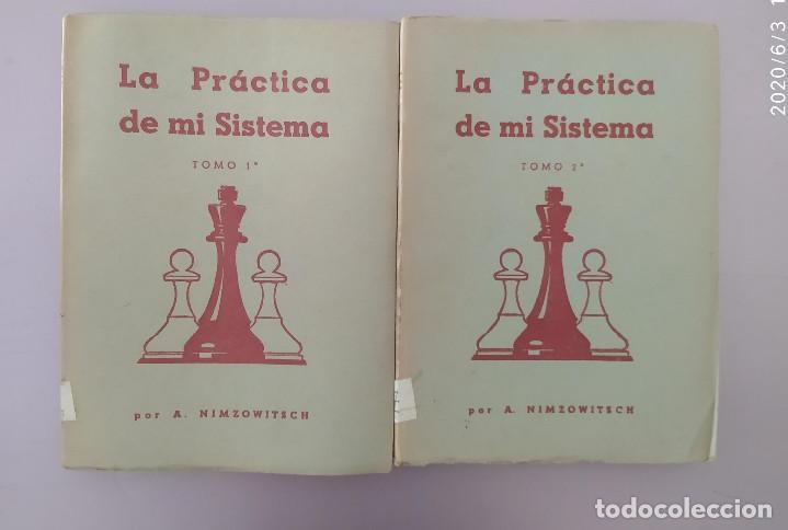AJEDREZ NIMZOWITSCH : LA PRÁCTICA DE MI SISTEMA 1ED. 1941 GRABO (Coleccionismo Deportivo - Libros de Ajedrez)