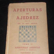 Coleccionismo deportivo: APERTURAS DE AJEDREZ, , APERTURAS ABIERTAS. Lote 207195033