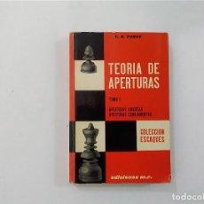 Coleccionismo deportivo: AJEDREZ - TEORÍA DE APERTURAS TOMO 1: ABIERTAS Y SEMI-ABIERTAS - V H PANOV - EDICIONES M.R. -(E3.1). Lote 208292417