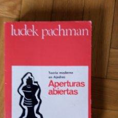 Coleccionismo deportivo: APERTURAS ABIERTAS. LUKE PACHMAN. Lote 209654085